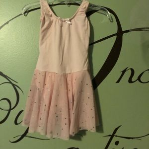 Pink tutu with stars and dots size 4-6